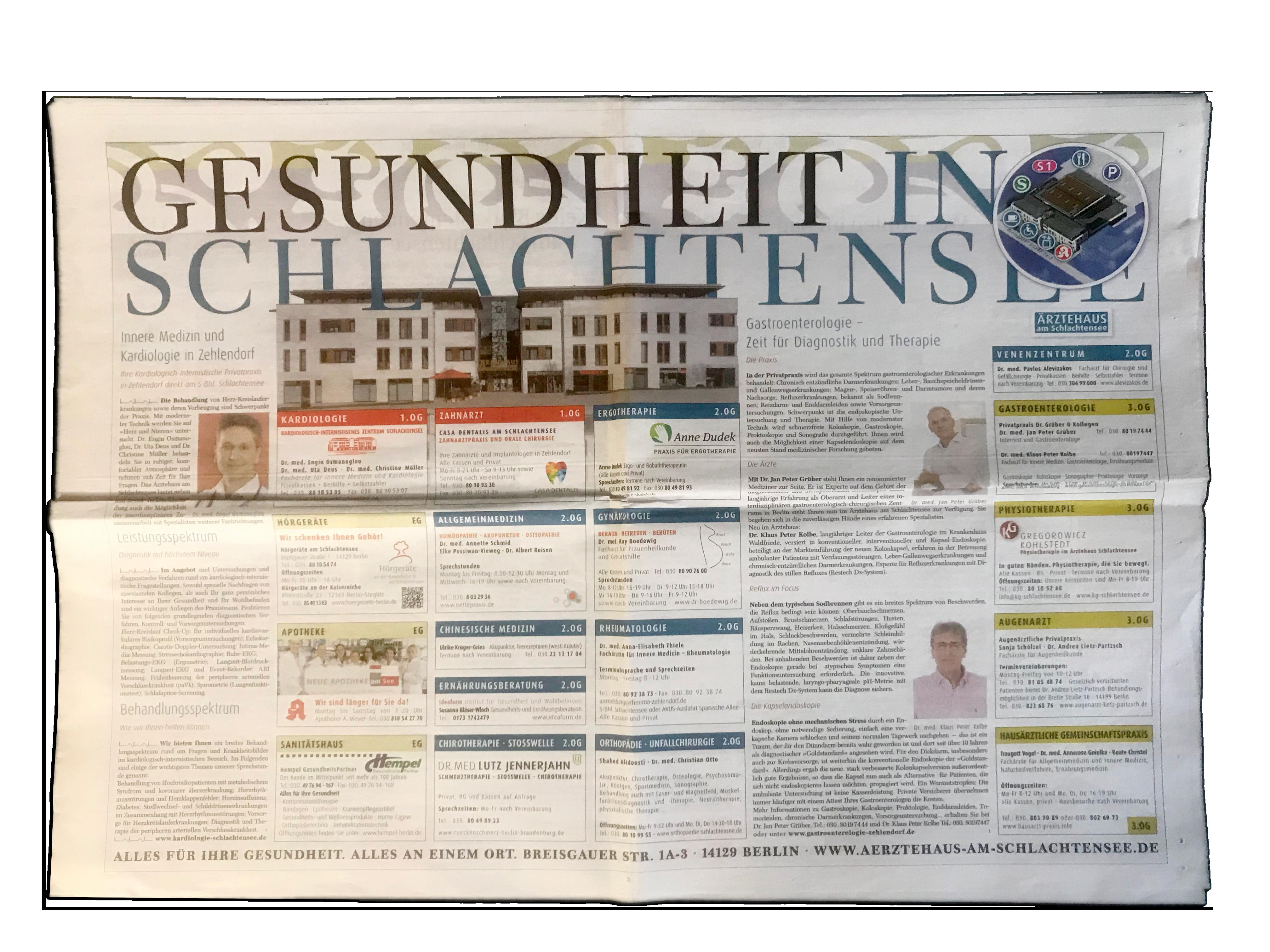 Gesund in Zehlendorf – Das Onlinemagazin Gesundheitsmagazin, Gesundheitszeitung, Informationen zu Gesundheitsthemen, Gesundheitsartikel, Gesundheitsnews, Fachartikel Gesundheit